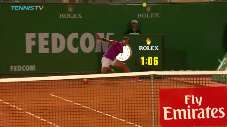 Hot Shot: Nadal's Unbelievable Get in Monte-Carlo