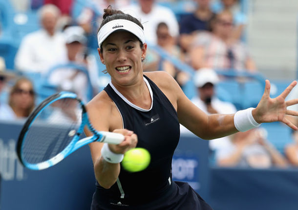 Muguruza Saves 3 MPs to Earn First Career Win over Keys