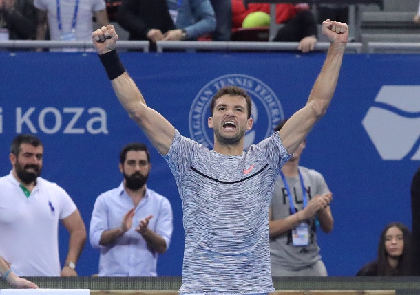 Dimitrov Thwarts Goffin, Wins Sixth Title in Sofia