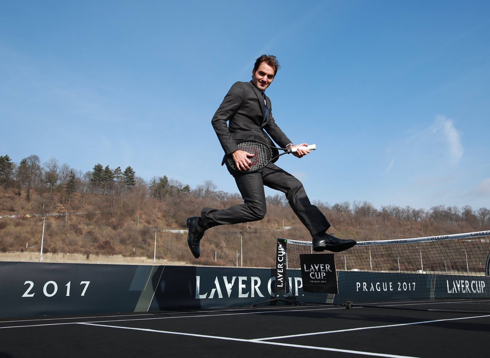 WATCH: Federer and Berdych Start Laver Cup Countdown