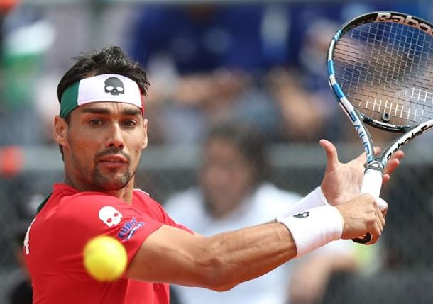 Fognini Wins it in Five for Italy