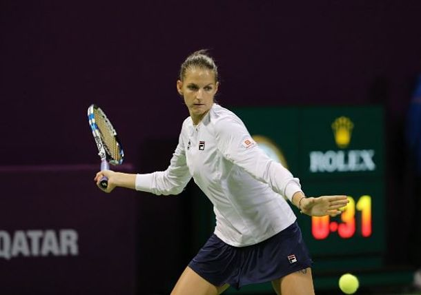 Pliskova Defeats Wozniacki for Doha Crown