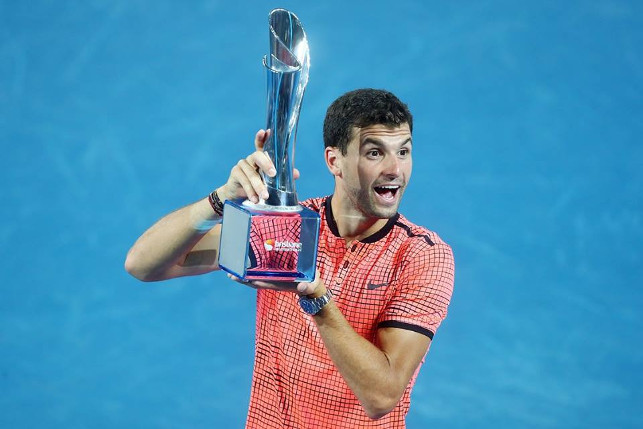 Dimitrov Tops Nishikori For Brisbane Title