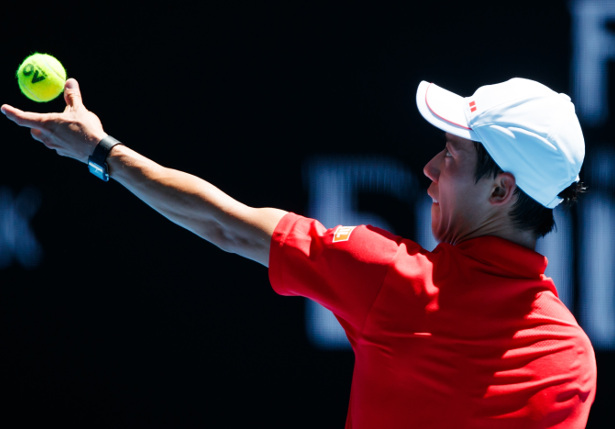 Nishikori Fights Through AO Opener Five Sets
