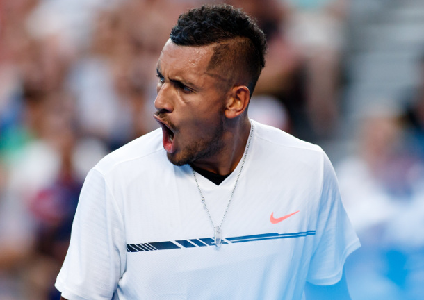 Watch: Kyrgios On Crash and Burn