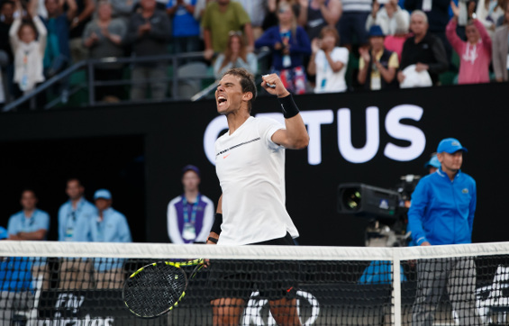 Nadal Outmuscles Monfils Into AO Quarterfinals