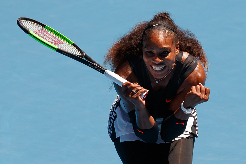 Serena Ends Konta Win Streak to Reach AO Semis