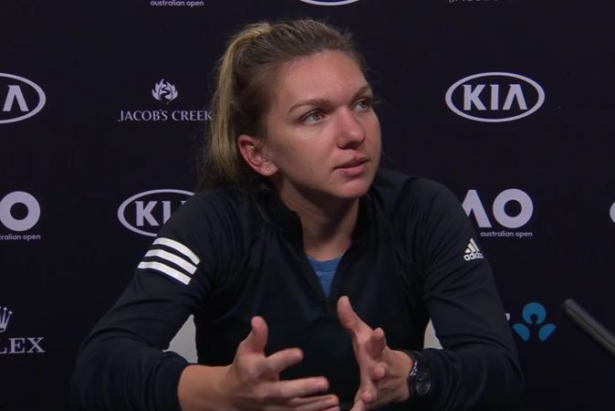 Frustrated Halep has been carrying knee tendonitis all year