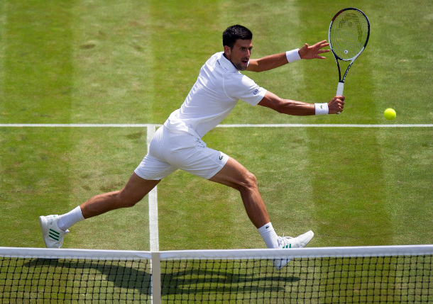 Fierce Djokovic Flies Into Wimbledon Third Round