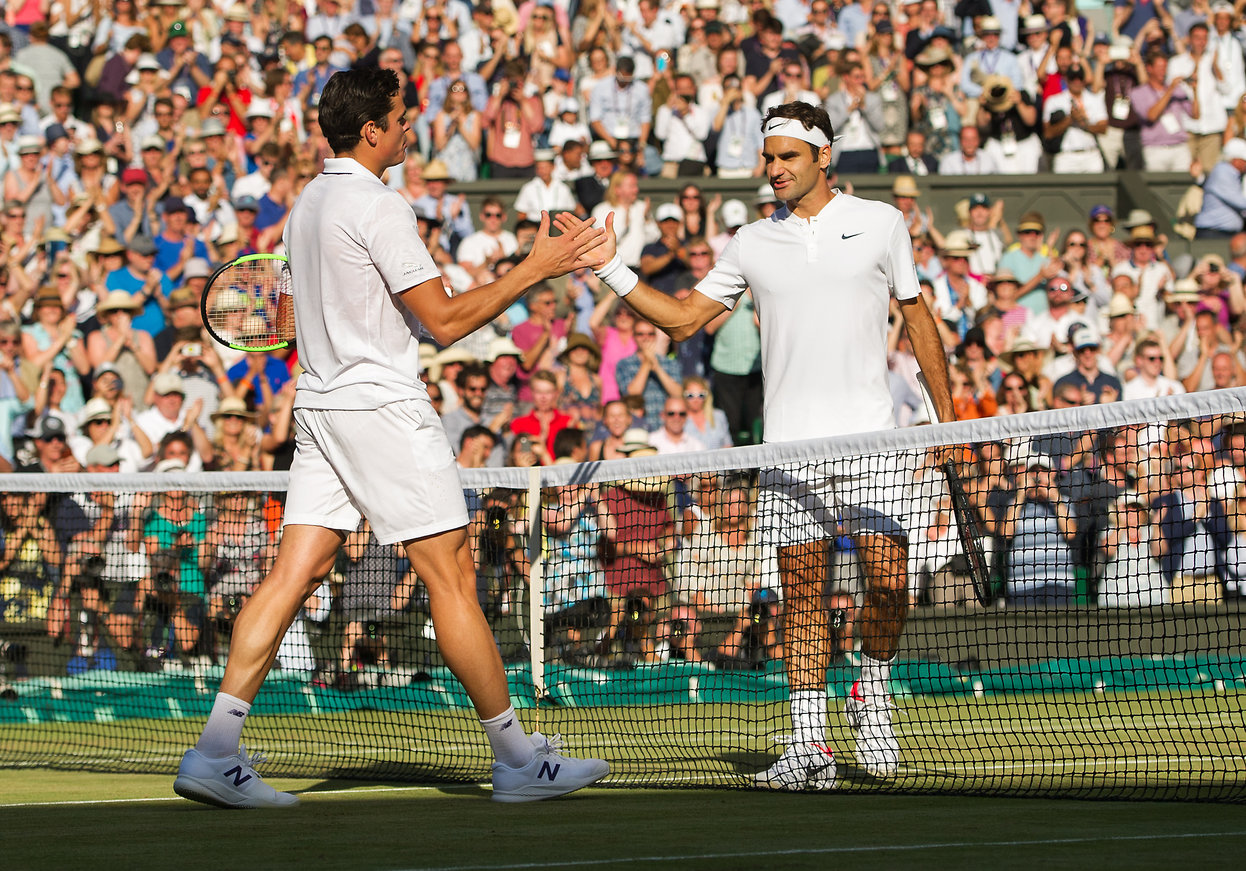 Federer Races Past Raonic to Reach Wimbledon Semifinals
