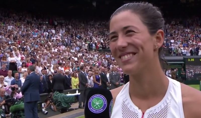 Watch: Muguruza Shows Sumyk the Dish in Wimbledon Champion's Speech