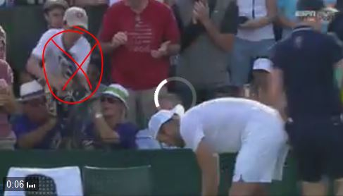 Watch: Man Fights Boy for Jack Sock's Towel at Wimbledon