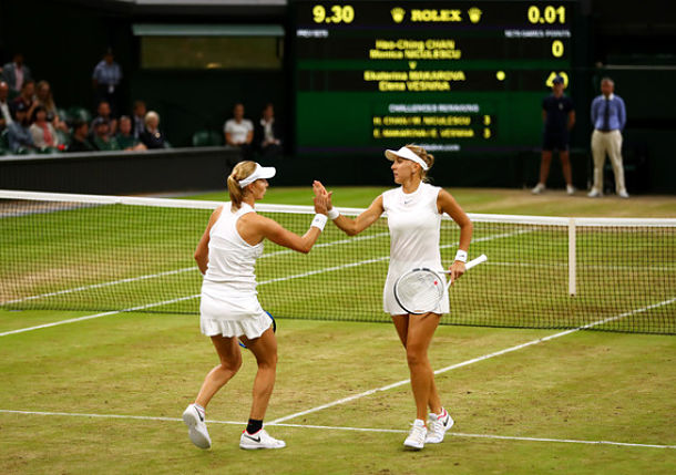 Vesnina and Makarova Claim Wimbledon Doubles Title
