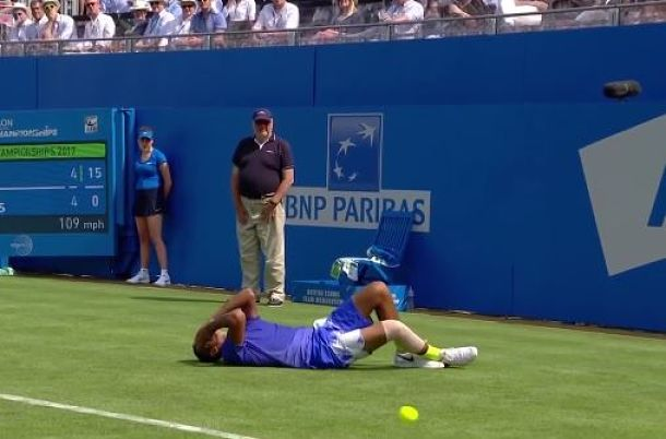 After Fall, Kyrgios Forced to Withdraw from Queen's Club