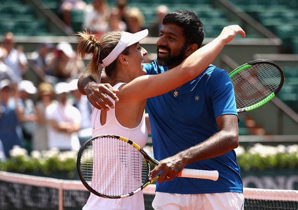 Dabrowski and Bopanna Claimed Mixed Title in Paris