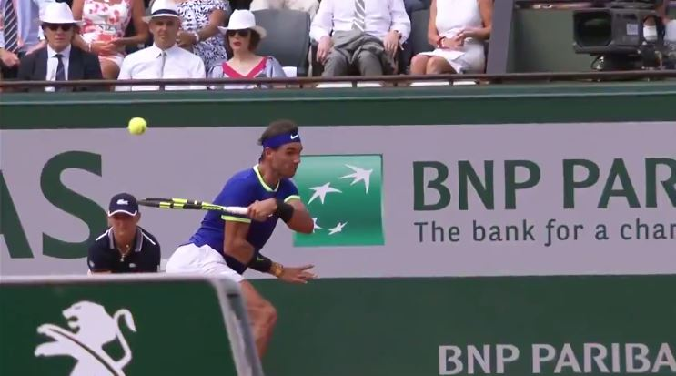 Watch: Nadal Scorches the Most Mind-Blowing Forehand of the Roland Garros Fortnight in Final