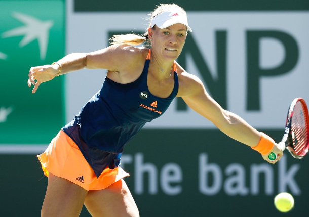 Vesnina upsets Kerber to set up Venus quarter-final