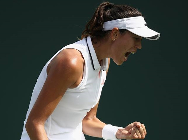 Muguruza Rallies Past Zhang In Miami