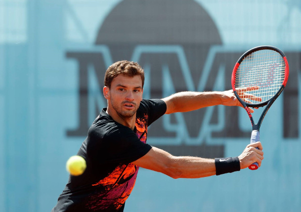 Watch: Dimitrov's Spin Cycle