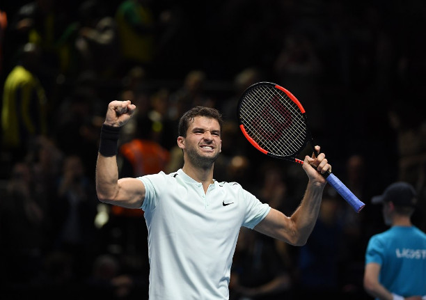 Dimitrov Shreds Goffin, Into WTF Semifinals