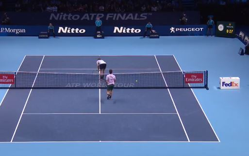 Watch: Sock Befuddles Federer with 180 Submissive