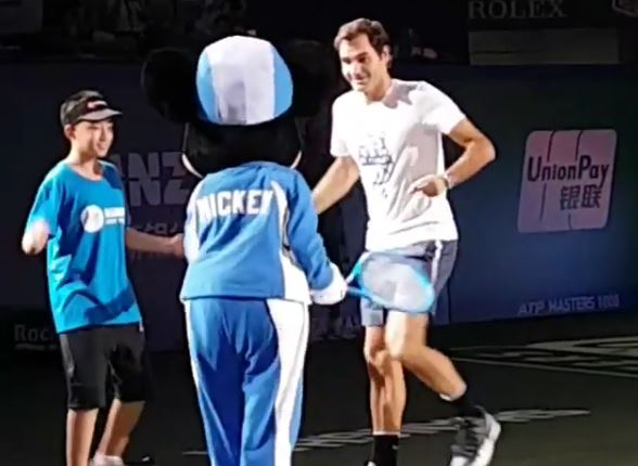 Watch: Federer Dances with Mickey Mouse, and it is Beautiful