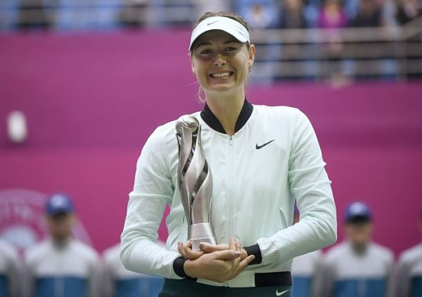 Sharapova Snaps Title Slump in Tianjin
