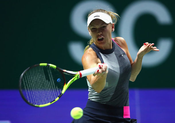 Wozniacki Shellacks Svitolina in Singapore Opener