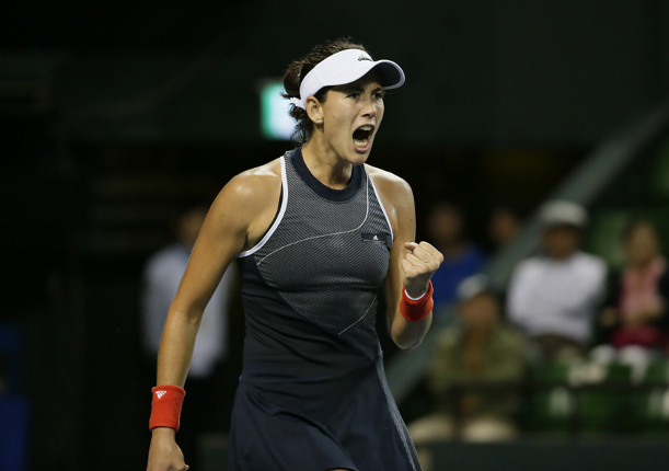 Muguruza Sets Up Wuhan Clash with Ostapenko