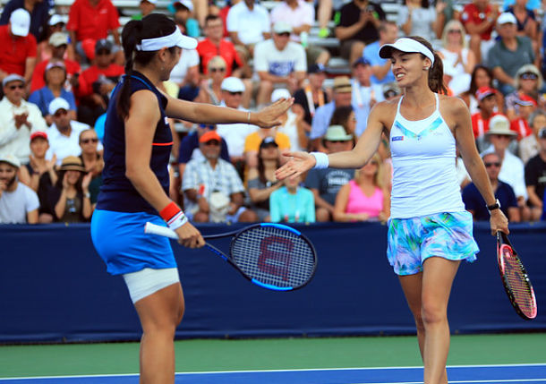 Hingis Reaches Finals in Doubles and Mixed at U.S. Open