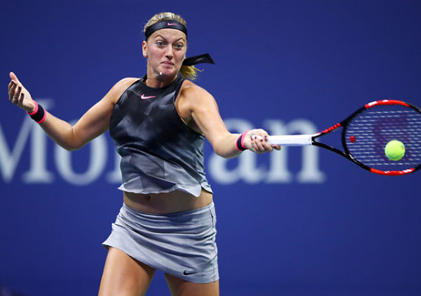 Kvitova Powers Past Muguruza to Set Quarterfinal with Venus Williams at U.S. Open