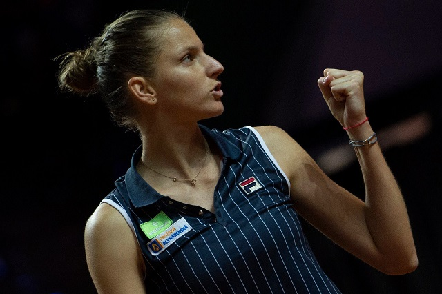 Pliskova Parts with Coach Martinez