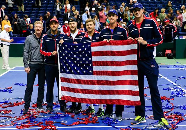 Team USA Sweeps Belgium to Reach First World Group Semifinal Since 2012