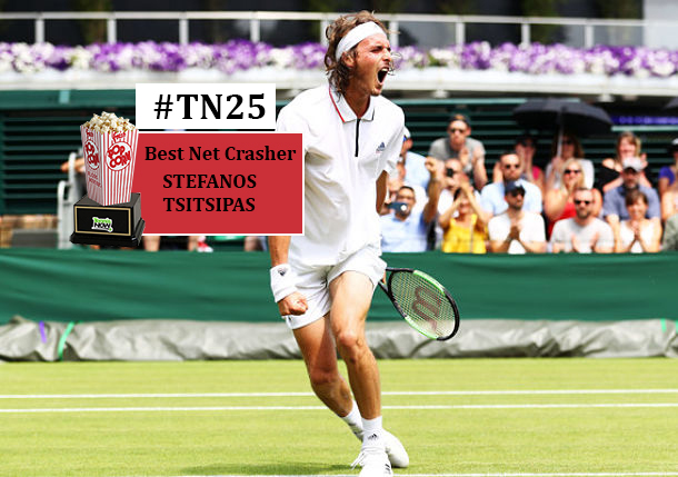 TN 25: Stefanos Tsitsipas, Best Net Crasher