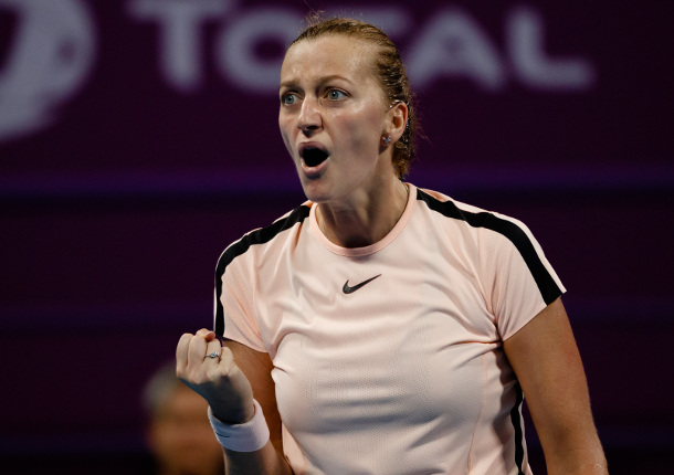 Kvitova Fights Off Wozniacki Into Doha Final