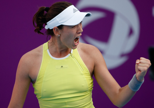 Muguruza Fights Past Garcia Into Doha Semifinals
