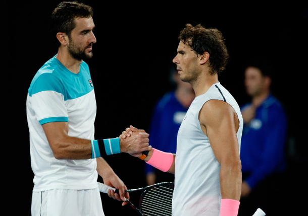 Cilic Battles with, then Hobbles Nadal to Reach Aussie Open Semis