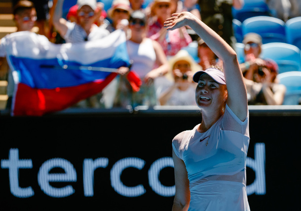 Sharapova Sweeps Maria in AO Return