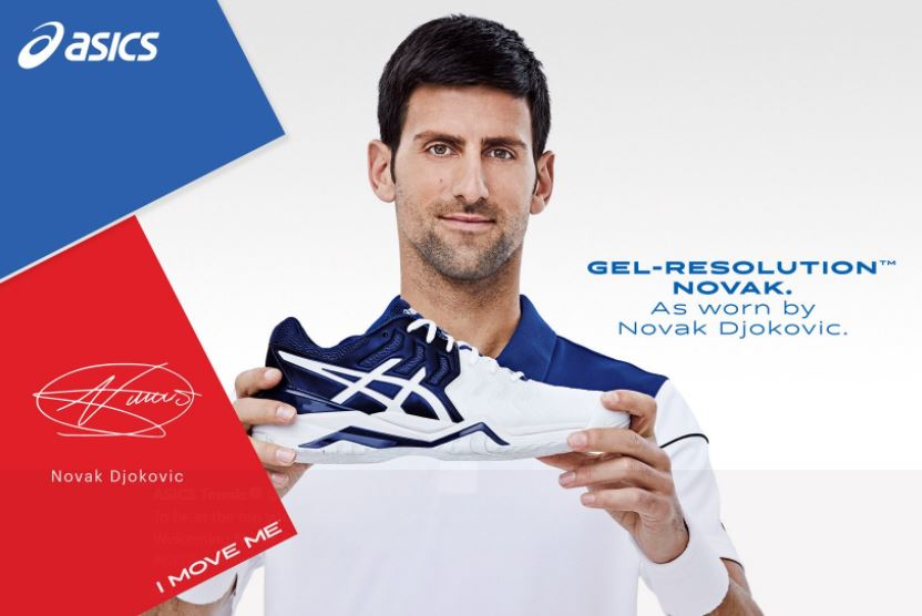 Djokovic Signs with Asics Footwear and Introduces New Shoe