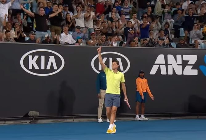 Watch: Thiem's 'Tweener Raises Roof
