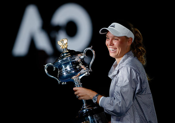 Photo Gallery: Caroline Wozniacki Defeats Simona Halep for 2018 Australian Open Title