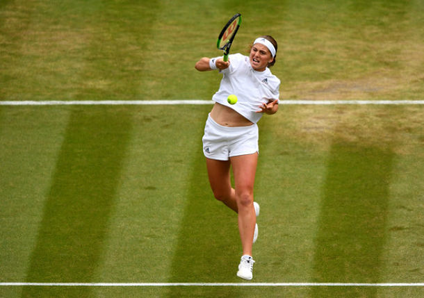 Surging Ostapenko Is First Latvian Woman into Wimbledon Semis