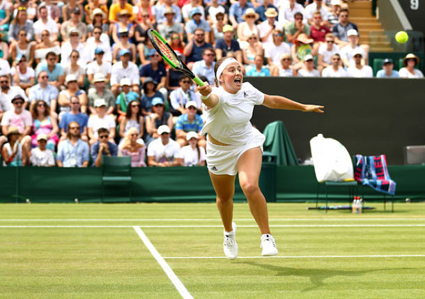 Ostapenko Playing Free and Shooting from the Hip at Wimbledon