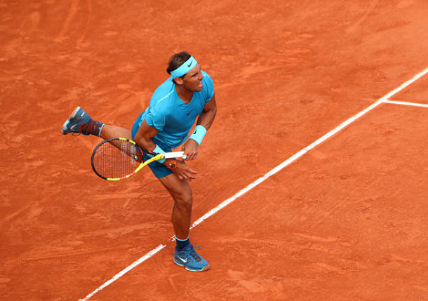 Nadal Drops a Set as Raindrops Prevail in Paris on Day 11