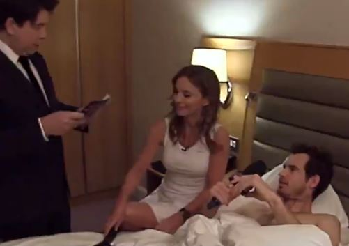 Why is Andy Murray in Bed with a Spice Girl?