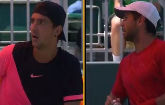 Watch: Verdasco and Kokkinakis Have Heated Argument in Miami