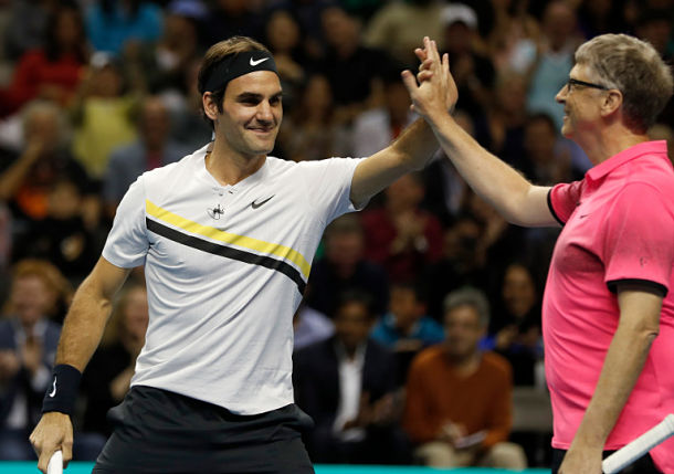 Federer Raises $2.5 Million in Match for Africa at SAP Center in San Jose