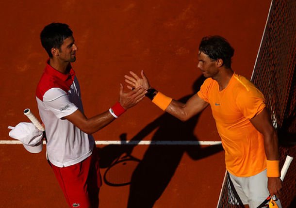 In Rome, Nadal Gets the Win as Djokovic Finds Form