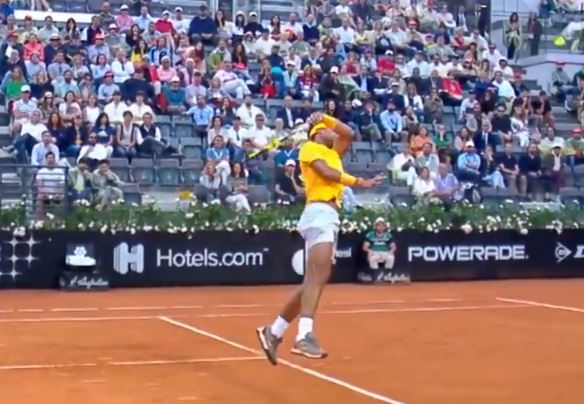 Video: Nadal's Stunning Sky-Hook smash from Rome Final