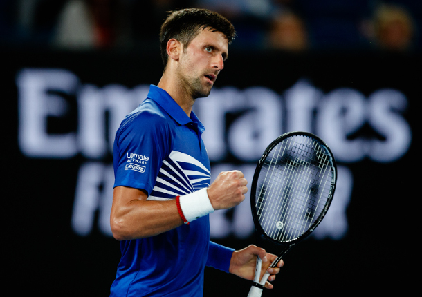 Gritty Djokovic Sets up AO Quarterfinal vs. Nishikori